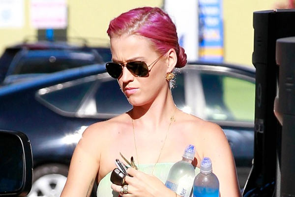 Katy Perry New Pink Haircolor