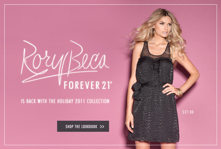 Rory Becca Forever 21 Holiday 2011 Collection / Lookbook
