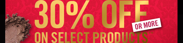 Bare Escentuals 12 Hour Sale Get 30% Select Products Ends At 9 P.M.